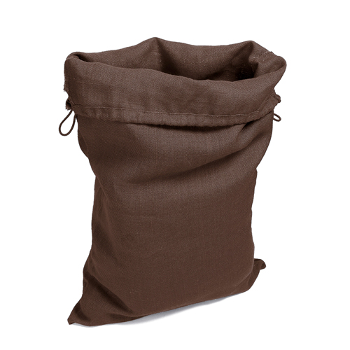 Grand sac en toile deco, rangement linge jouets, couleur chocolat uni