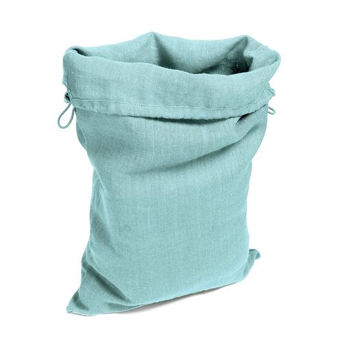 Grand sac en toile pour le rangement linge, couleur bleu uni