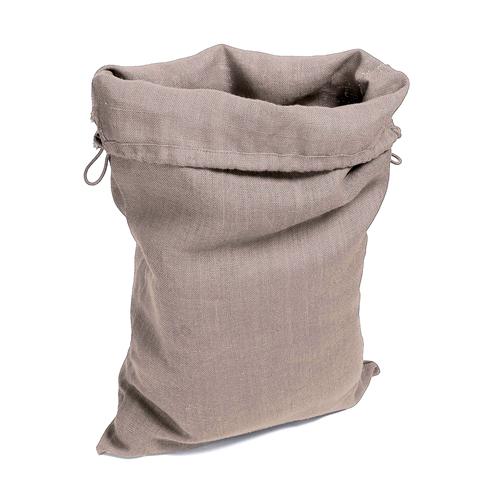 Grand sac en toile deco, rangement linge jouets, couleur taupe claire uni