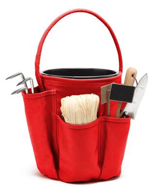 sac de jardin porte outils jardinage rouge