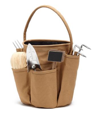 sac jardinage, porte outils de jardin caramel
